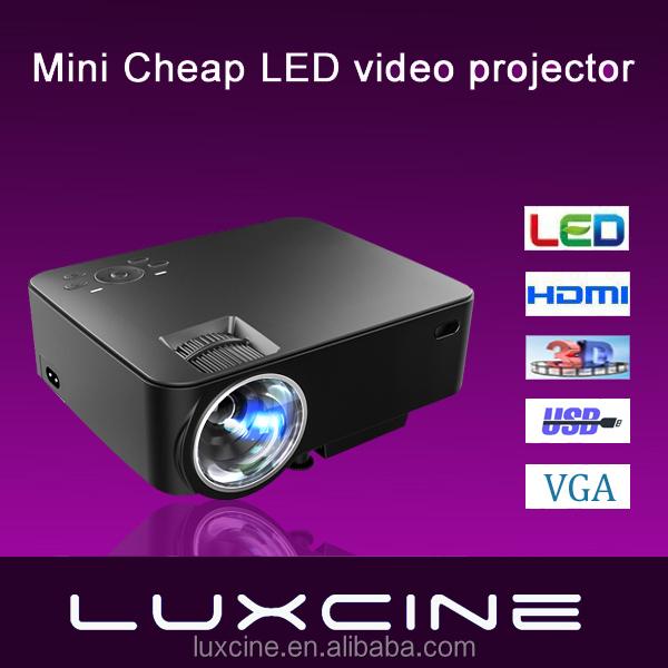 2016 luxcine mini portable cheap led video projector 1080p for Cheap mini portable projector