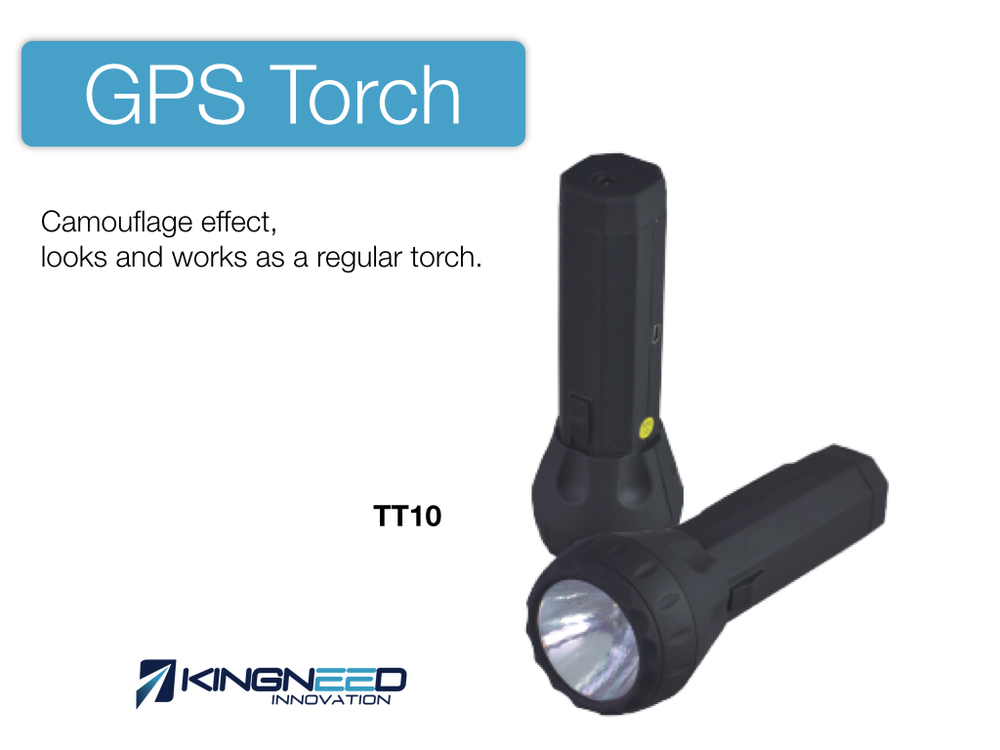 Torch mini hidden gps tracker with sim card plus gprs for personal kids elder with LED flashlight T10 kingneed