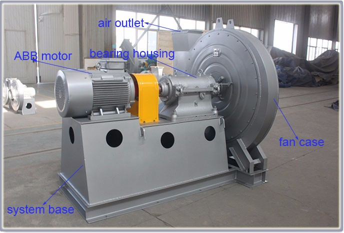 high pressure carbon steel cooling grate cooler centrifugal fan