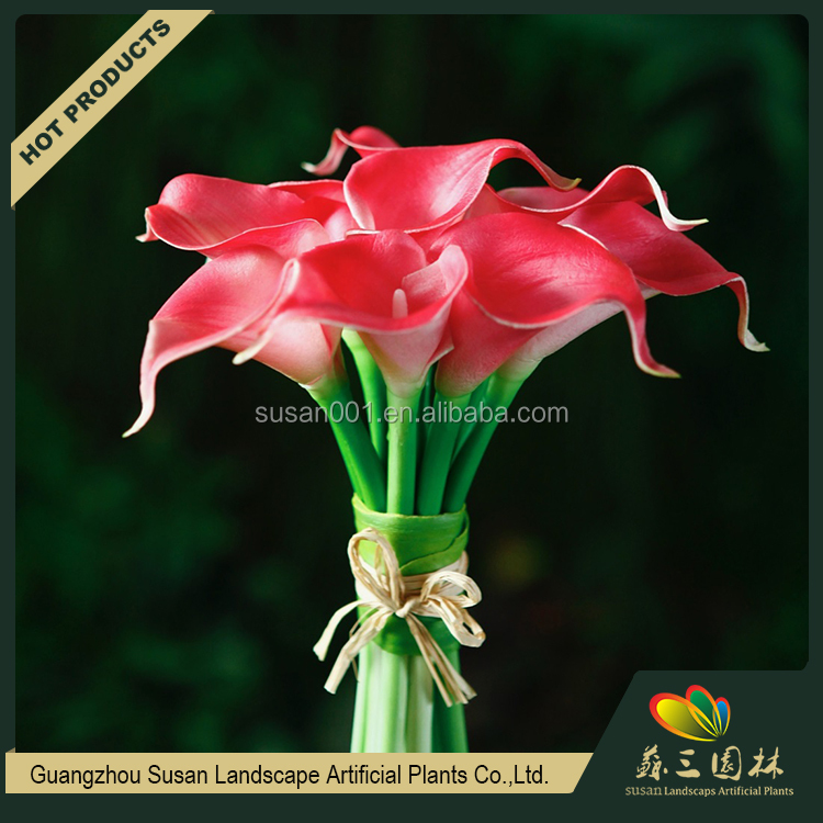 Manufacture artificial calla Lily flower wholesle real touch lily flower for home decoration