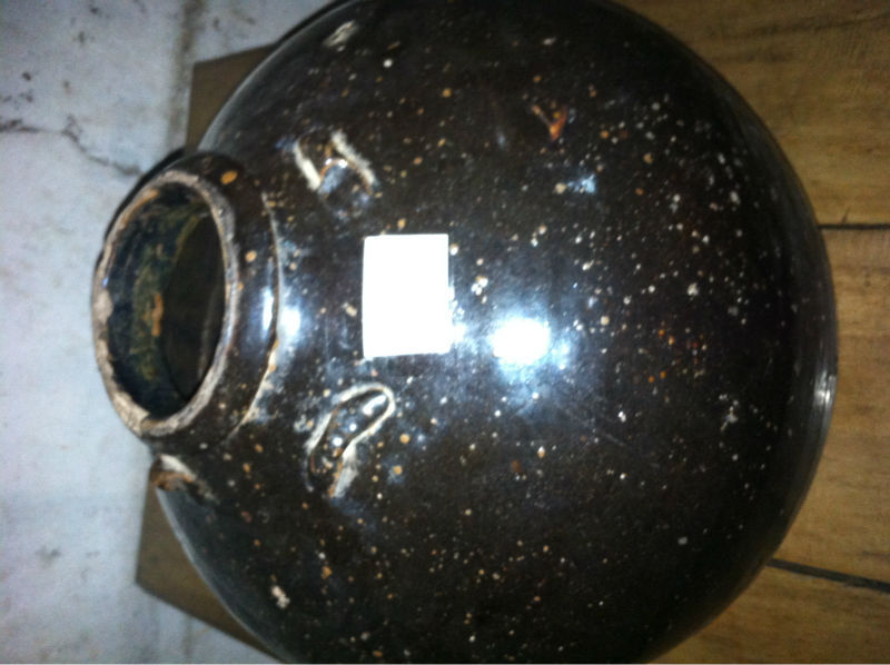 Antique Chinese Earthenware Round Jar