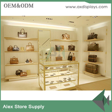 Customized Modern Display Leather Bag Shelf Display Rack For Handbags Shop