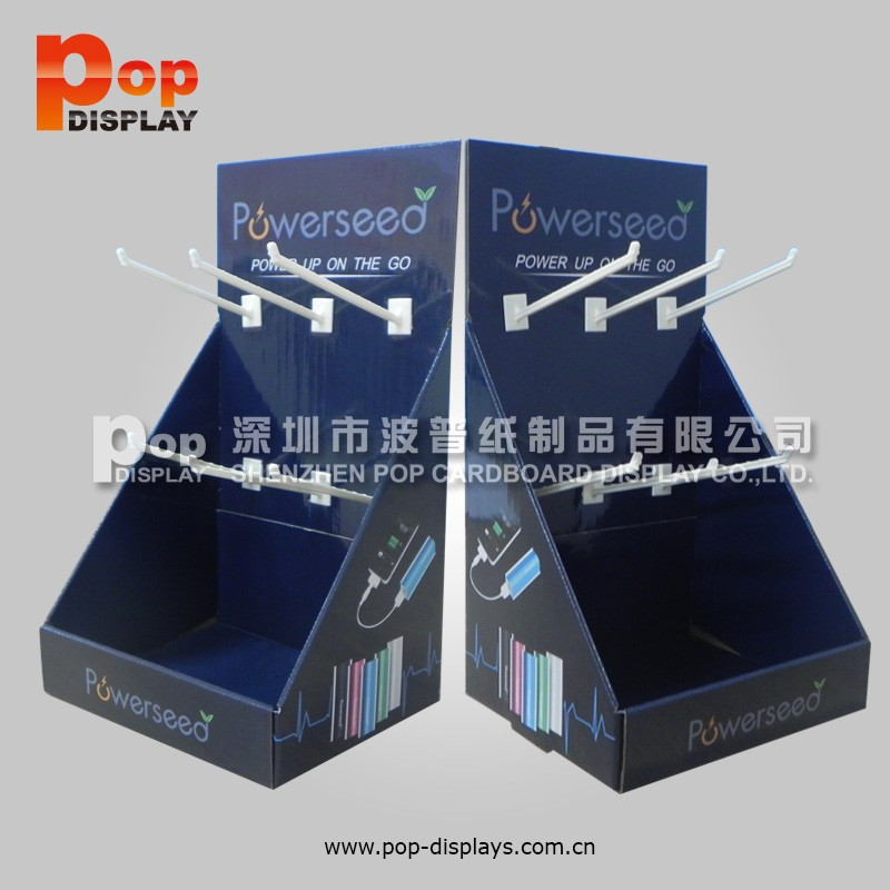High Quality Low Price Cardboard Countertop Displays with Peg Hook