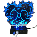 Patented Product Acrylic 3D Cartoon Light 4 Ports Craft Sync and Charging USB HUB with Private Mold