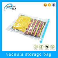 Clear plastic vacuum packaging bag for clothing