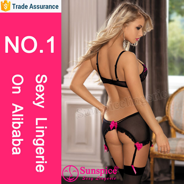 Sunspice transparent mature women sexy tube top lace stocking