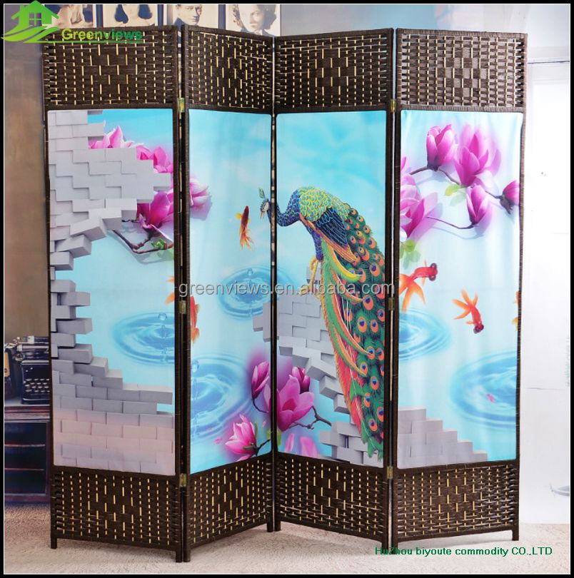 Printing Canvas partition, folding room divider China Canvas Room Dividers Partitions room paravent, room dividers GVSD011