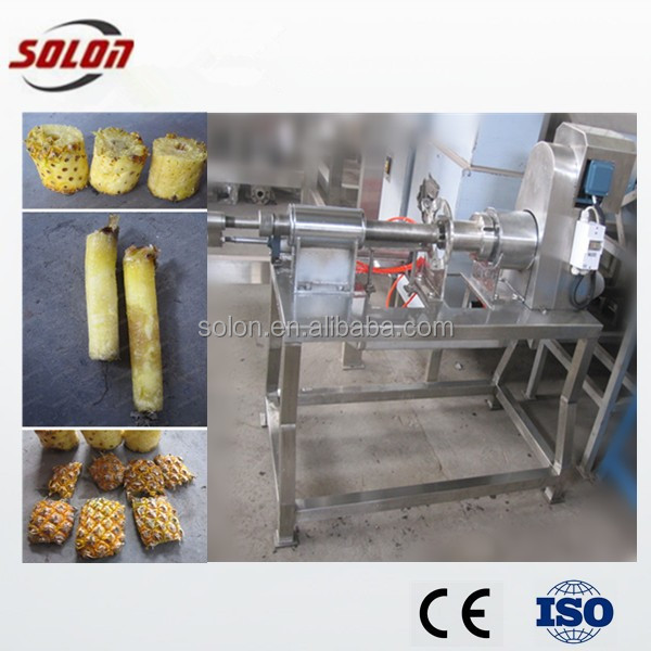 High quality pineapple skin core remover/pineapple skin peeling machine/pineapple coring machine