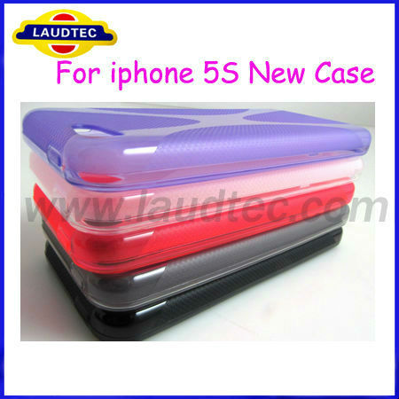 2013 Hot Selling for Golden iPhone 5S X Line Wave TPU Gel Case Cover NEW PRODUCT!!!!!!
