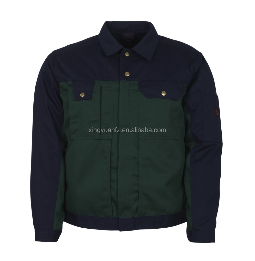 Star SG OEM poly cotton two tone varsity winter jacket man jacket for industrial