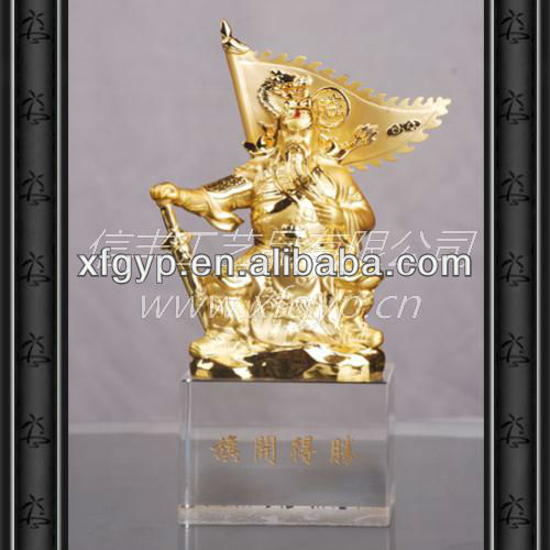 Famous general in ancient China gold metal statues
