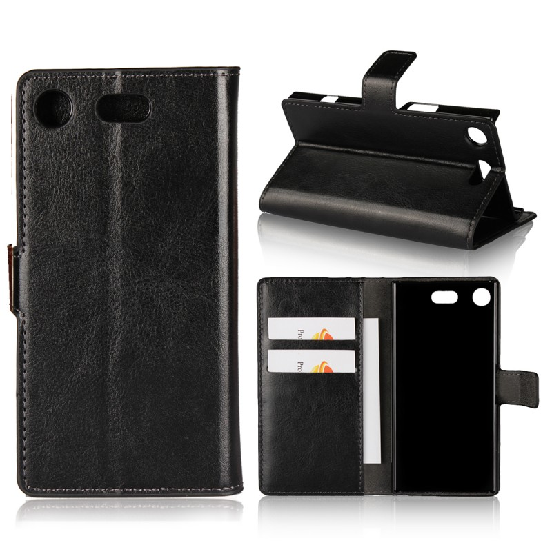 Book Style Leather Flip Cover Case Wallet Phone Funda For Sony Xperia XZ1 Compact Phone Case