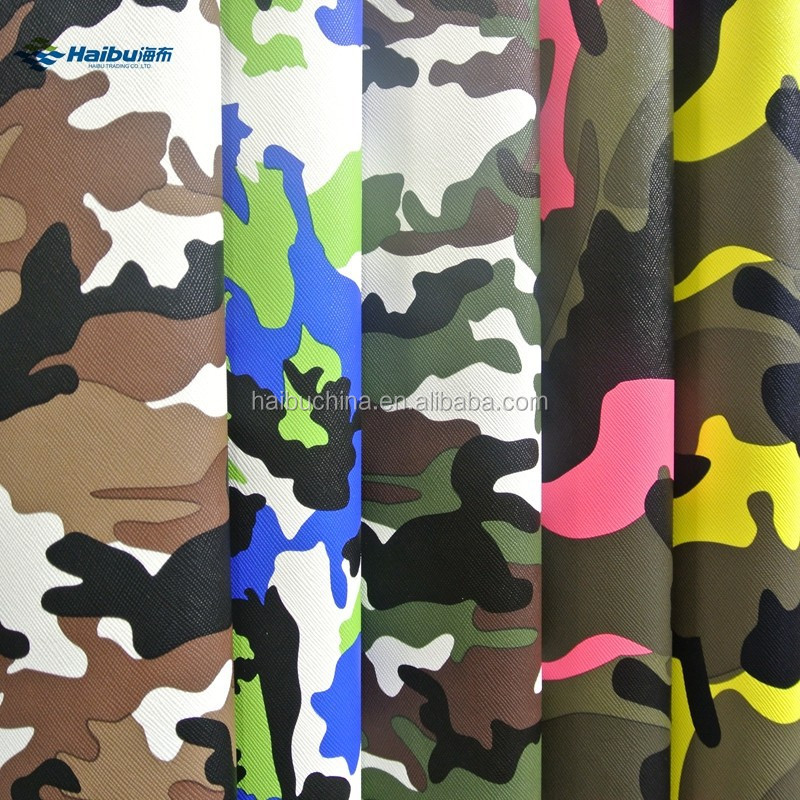 Embossed PVC Camouflage Leather