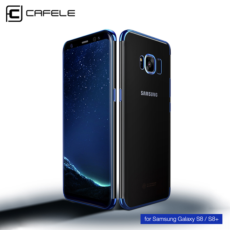 CAFELE Full Protective Fitted Case Soft TPU Light Transparent Back Cover For Samsung Galaxy S8 Plus