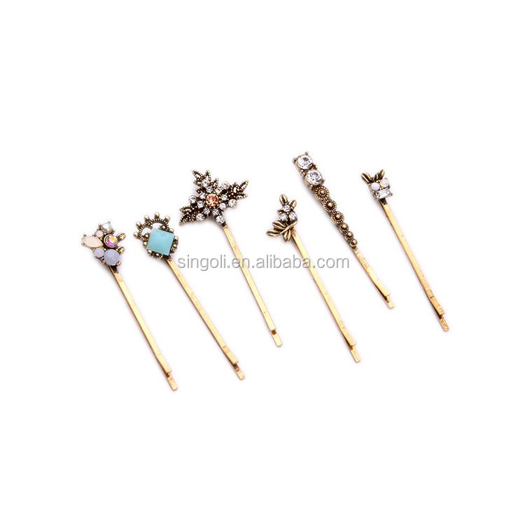 ADDA GOLD SPARKLE SET OF BOBBY PINS