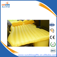 Portable soft inflatable bed in car