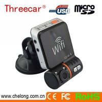 Free sample Wifi GPS function wide angle dvr d011 car dash camera