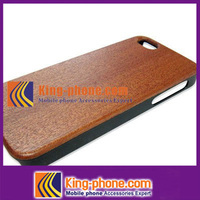 simple design PC wooden case For iPhone 5