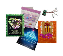 led musical greeting card as gifts or premiums