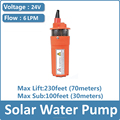 dc 12 volt / 24 volt solar powered submersible water pump windmill irrigation water pump YM2440-30
