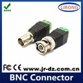 CCTV Camera environmental coaxial male screw bnc connector for tv antenna