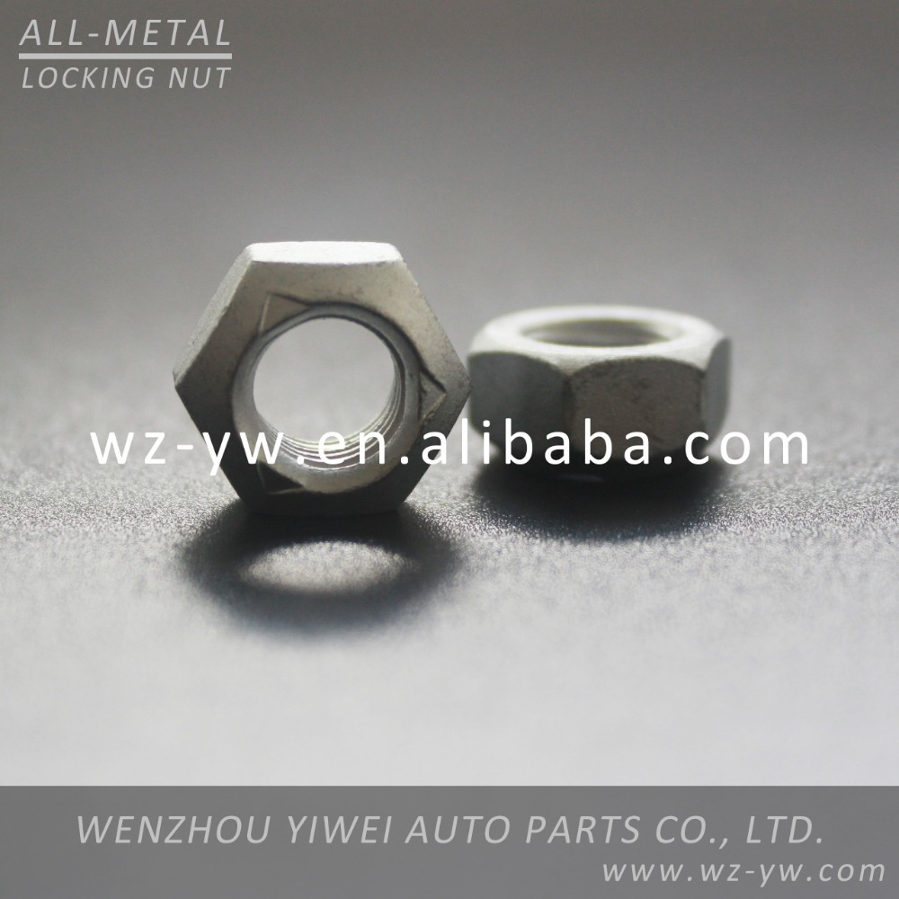 Customized vehical parts hexagon wheel lock nut hex thin nut