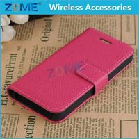 Wholesale Cell Phone Cases Wallet Card Holder PU Leather Pouch Flip Leaf Style Case Cover For iPhone 5