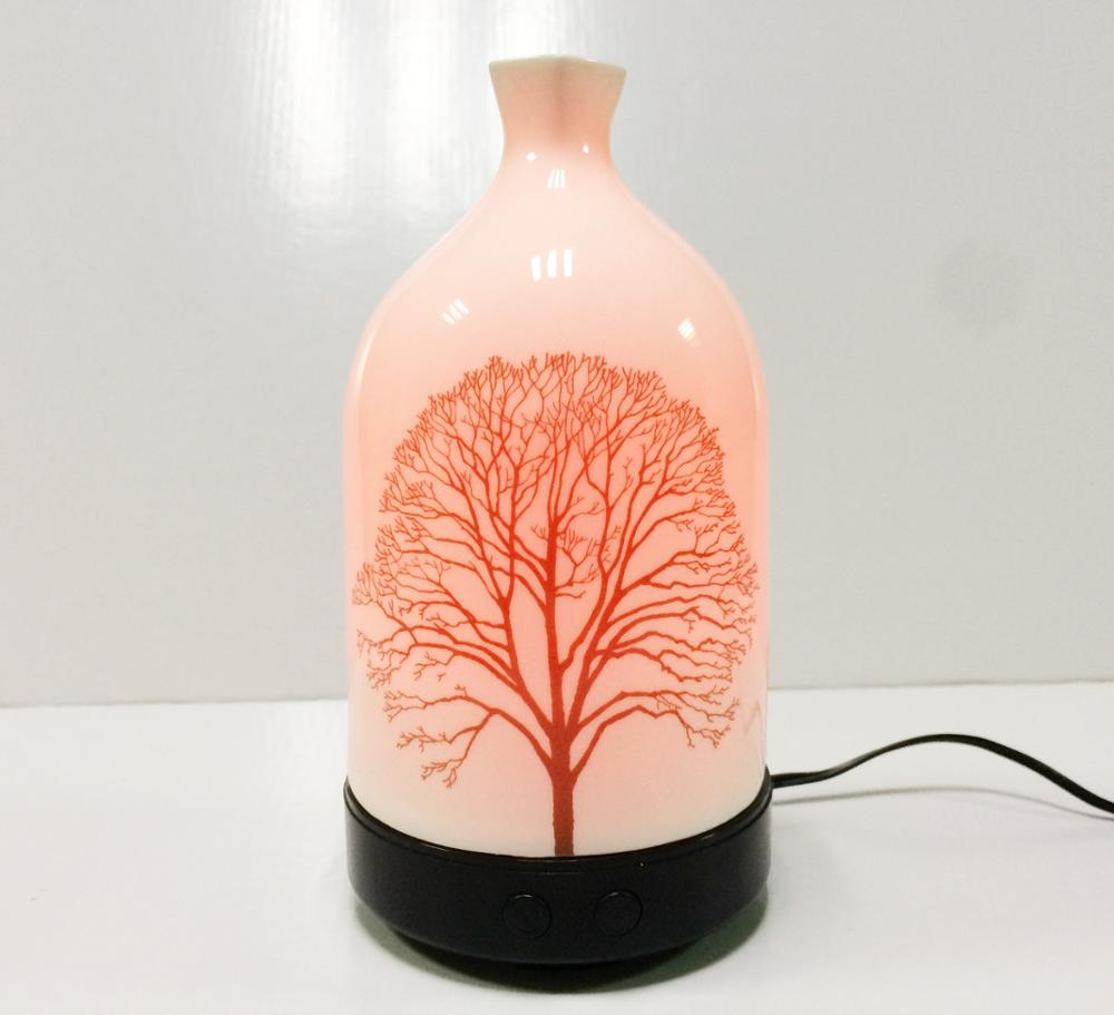 2020 home Ceramic Ultrasonic Aroma oil Diffuser with LED Light Essential Oil Perfume Diffuser