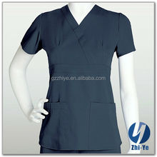 nurse uniform latest fashion 100% polyester scrub