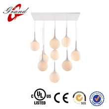 9-light rain drop pendent light for hotel decoration