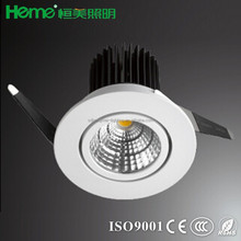LED COB 12W LED ceiling recessed mount down light with 780lm