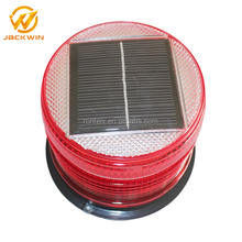 Yellow /Red LED Flashing Solar Power Beacon Light for Marine Navigation