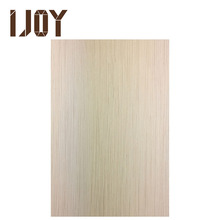 uv lacquered white oak wood veneer panel with excellent fullness of film for interior decoration