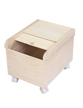 High Quality Removable Wooden Rice Box Solid Wood Rice Barrel