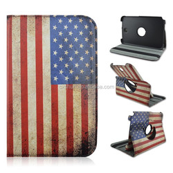 United States Flag 360 Rotary Flip Stand PU Leather Tablet Cover Case For Samsung galaxy Note 8.0inch N5100 N5110