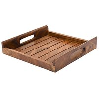 Wooden Tray With Metal Handlewooden White wooden 3 Tier Round Tray