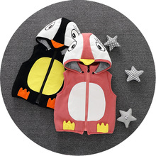 China Supplier Clothing For Kids Sleeveless Animal Style Hoodies Baby Wear