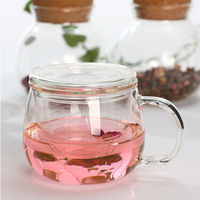 Beautiful modern combined glass teapot cup