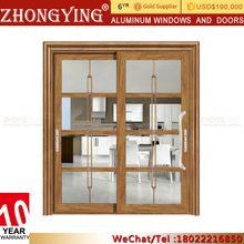 Australian Standard French Doors For Hotels , Aluminum Glass Sliding Automatic Door System Malaysia Prices