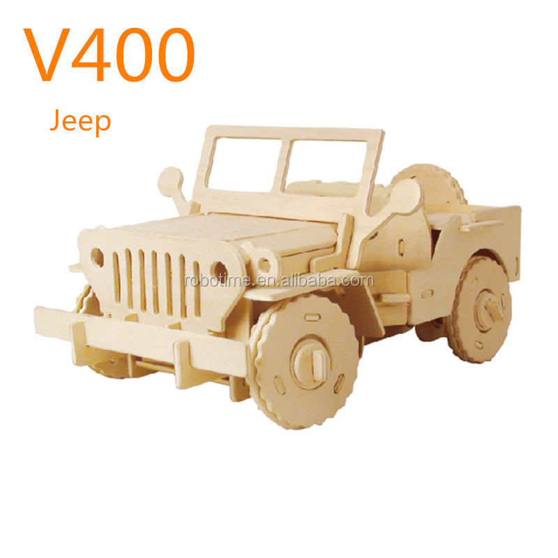 remote-controlled car wooden DIY toy car