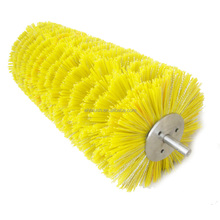 nylon cylinder road sweeper brush with shaft for sale