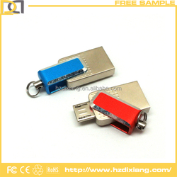Customized Logo Mini Metal OTG USB Flash Drive for Free Sample