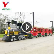 Adult Rides Battery Operated Express Electric Trackless Ride On Train Set For Amusement Park