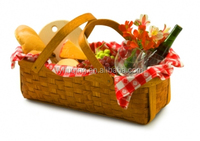 wicker wine picnic baskett / decorative wicker basket /cheap empty picnic baskets