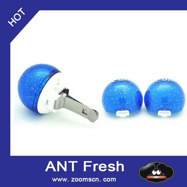 ANT Fresh Car Vent Clips incense ball Air Freshener and Odor Eliminator, New Car Scent