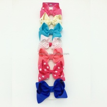 Boutique Large Solid Grosgrain Ribbon Hair Bow Clips Barrette Bow For Women Girls Accessories