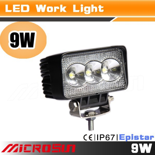 Mini 9W high quality IP69 off road led atv light for snowmobile