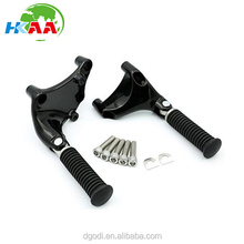 250cc Motorcycles Black Rear Passenger Foot Pegs with Mount