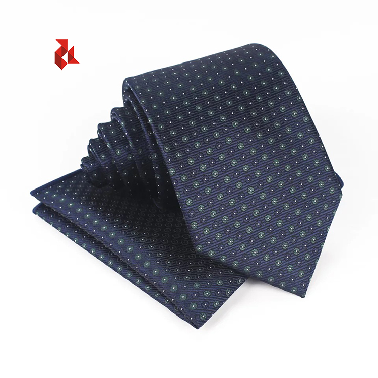 Business Tie Ready Stock Mens Ties Set with Pocket Square Normal Microfiber Necktie Gift