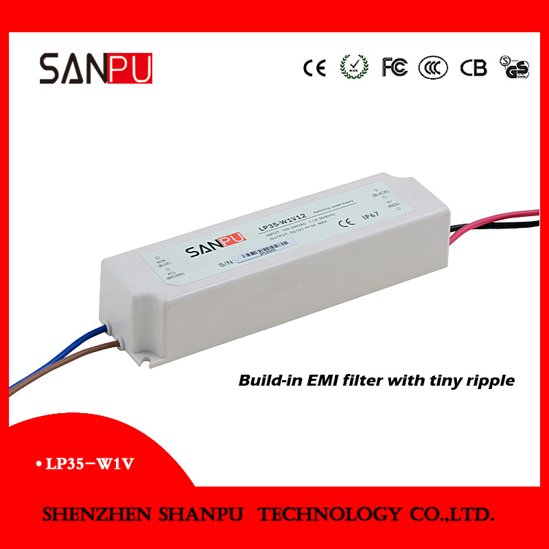 AC to DC power supply 12V 24V, industrial resdential, centralized power supply 35W 3A PWM led driver